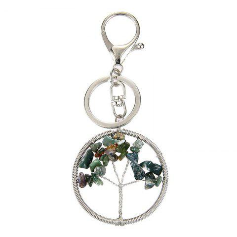 Outfit Fashion Jewelry Classic Style Characteristic Craft Wire Inlay Rhinestone Plant Tree Charm Key Chain for Women