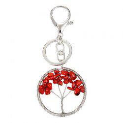 Fashion Jewelry Classic Style Characteristic Craft Wire Inlay Rhinestone Plant Tree Charm Key Chain for Women -