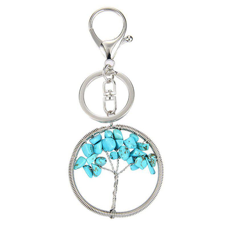 Hot Fashion Jewelry Classic Style Characteristic Craft Wire Inlay Rhinestone Plant Tree Charm Key Chain for Women