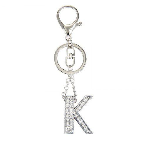 Unique Fashion Jewelry Punk Rock Heavy Metal Style Crystal Portability Letter Charm Pendant Long Key Chain for Women