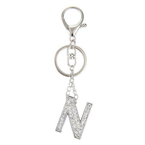 Fashion Fashion Jewelry Punk Rock Heavy Metal Style Crystal Portability Letter Charm Pendant Long Key Chain for Women