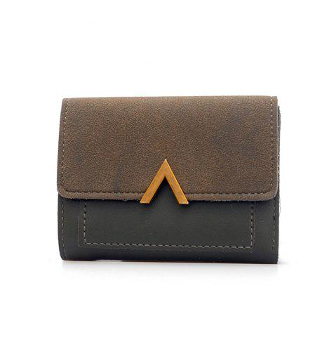 Shop Female Short Compact Personality Wallet Students Simple Wallet