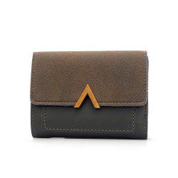 Female Short Compact Personality Wallet Students Simple Wallet -