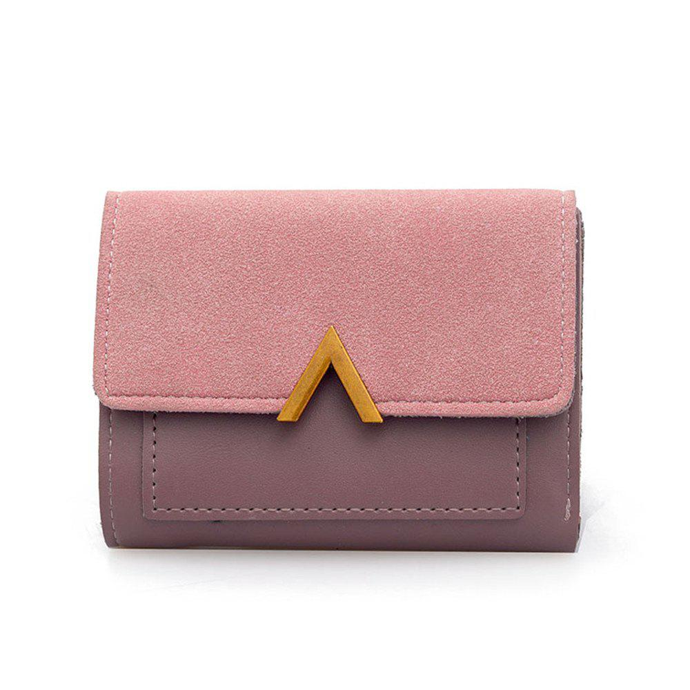 Cheap Female Short Compact Personality Wallet Students Simple Wallet