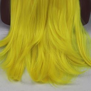 Light Yellow Long Natural Straight Heat Resistant Synthetic Hair Lace Front Wigs for Women -