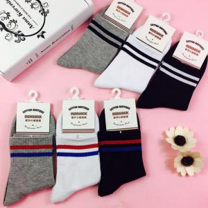 Men's 5 Pairs Crew Striped Soft Chic Comfortable Socks -