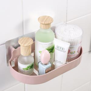 5060 Nordic Style Suction Rack Shelf Bathroom Wall Hanging Cosmetics Storage Racks -
