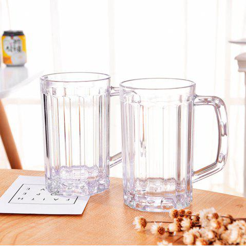 Online 2Pcs Beer Glasses Clear Drink Party Cups Picnic Drinking Mug Tankards Great Gift