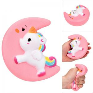 Jumbo Squishy Cartoon Kawaii Lune Parfum Slow Rising Décompression Jouet Poupée -