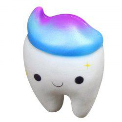 Jumbo Squishy Cute Smiley Teeth Cake Scented Slow Rising Squeeze Toys -