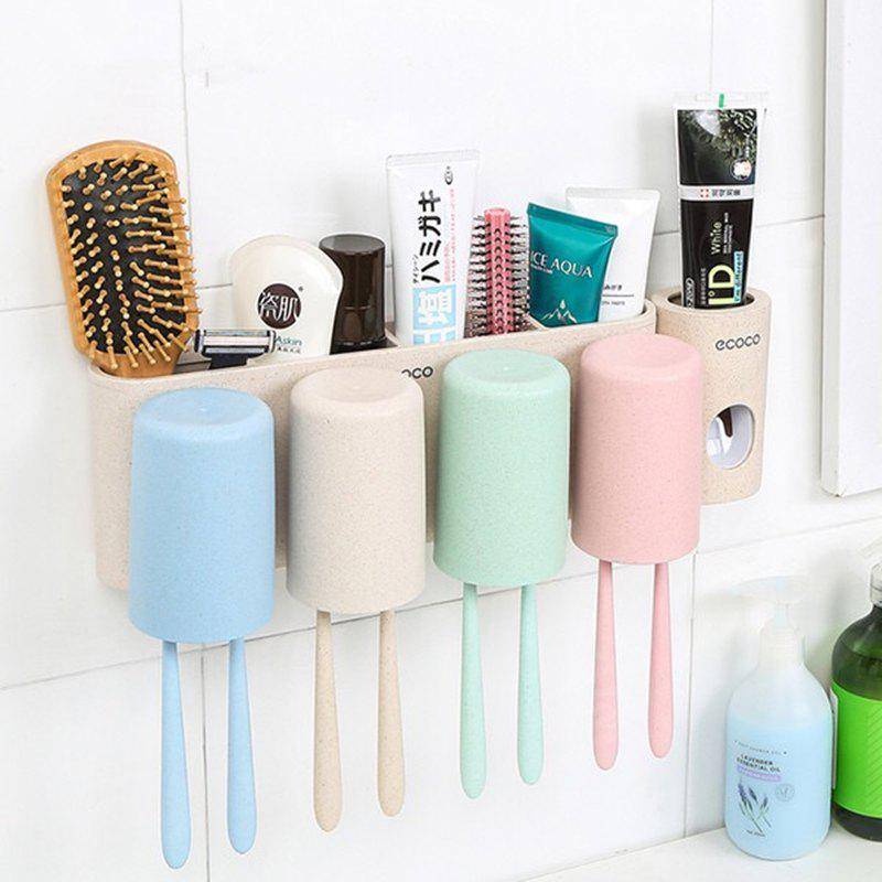 Ensemble de lavage de paille de blé Four Family Brush