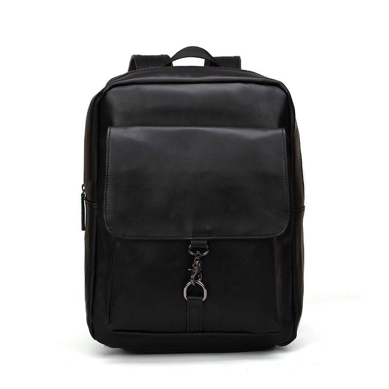 Best New Rucksack Shoulder Bag Fashion Men's Leather Backapack
