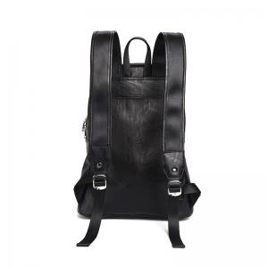 New Leather Men's Rucksack Bag Korean Fashion Students Backpack Knapsack -