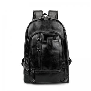 Men's  Fashion Travel Outdoor Backpack Leather Large Capacity Rucksack Laptop Knapsack Bag -