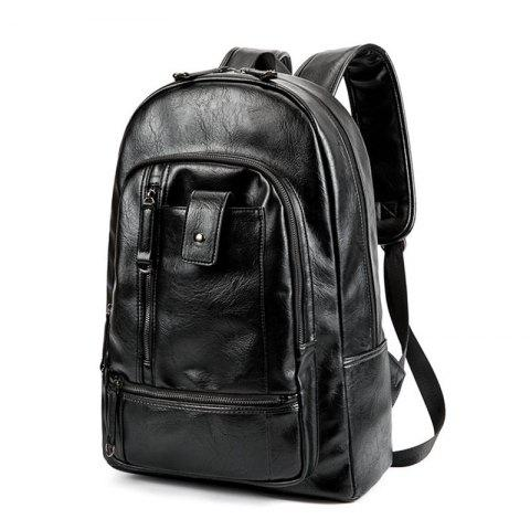 New Men's  Fashion Travel Outdoor Backpack Leather Large Capacity Rucksack Laptop Knapsack Bag