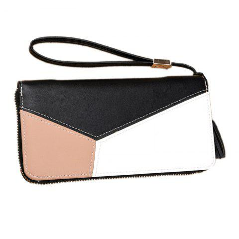 Cheap Simple Contrast Color Stitching Wallet