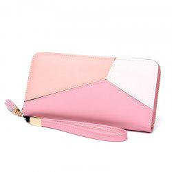 Simple Contrast Color Stitching Wallet -