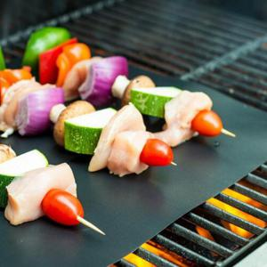 2PCS/LOT 0.2mm Thick Ptfe Barbecue Grill Mat 33 x 40CM Non-Stick Reusable BBQ Grill Mats -