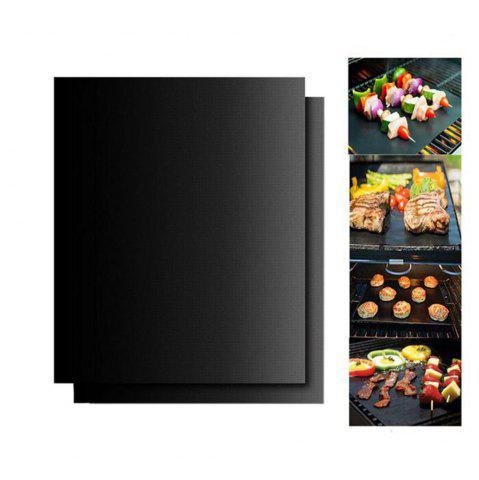 Fancy 2PCS/LOT 0.2mm Thick Ptfe Barbecue Grill Mat 33 x 40CM Non-Stick Reusable BBQ Grill Mats
