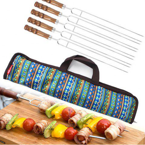 Online 5 In1 High Quality Stainless Steel Fork Camping Dining Barbecue BBQ Tool Set Outdoor Traveling