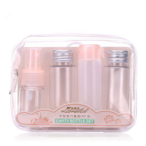Shop Lameila Empty Refillable Travel Bottle Makeup Tool 4PCS