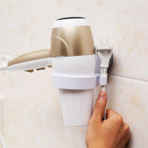 Fashion Bathroom Single Hole Suction Cup Hair Dryer Storage Rack Wall-Free Nail-Free