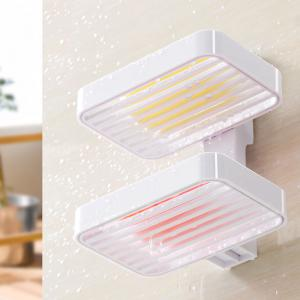 Suction Cup Wall Drain Drain European Soap Tray Creative Hole-Free Toilet Large Double Shelves -