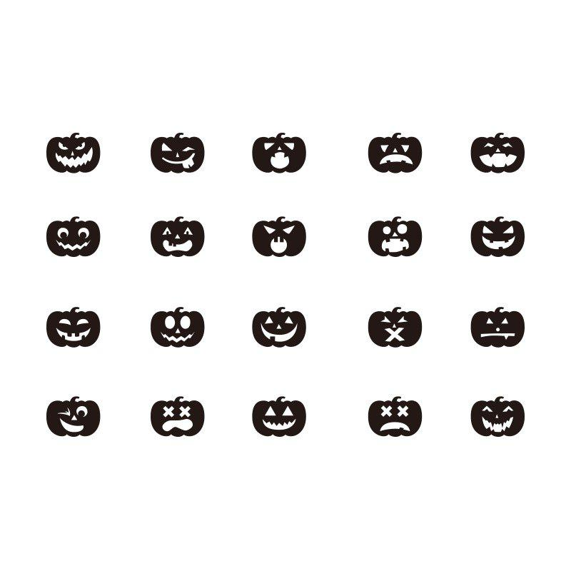 Sale Halloween Jack-O -Lantern Stickers Decorate Bedroom Living Room 20PCS