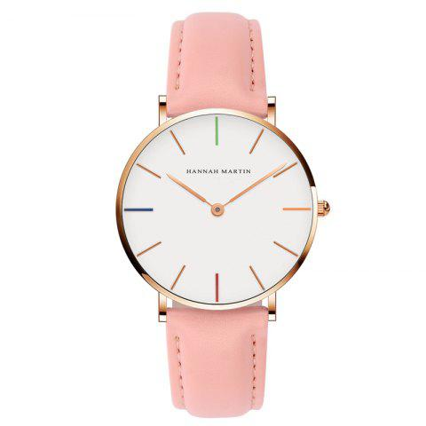 Store Hannah Martin 3690 - B36 Casual Casual Ultra-Thin Waterproof Quartz Ladies Watch