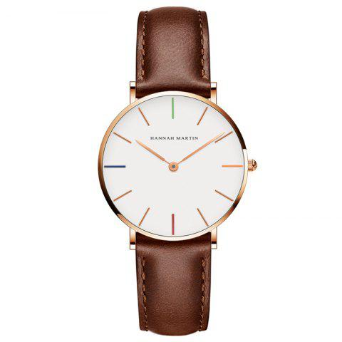 Unique Hannah Martin 3690 - B36 Casual Casual Ultra-Thin Waterproof Quartz Ladies Watch