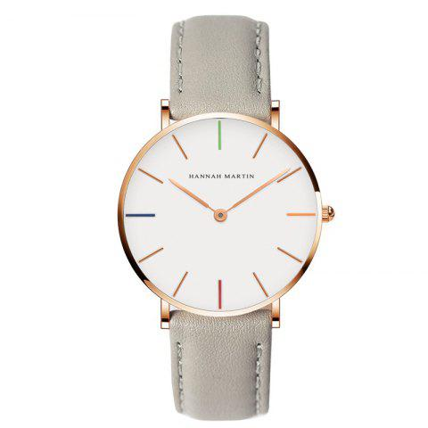 Fashion Hannah Martin 3690 - B36 Casual Casual Ultra-Thin Waterproof Quartz Ladies Watch