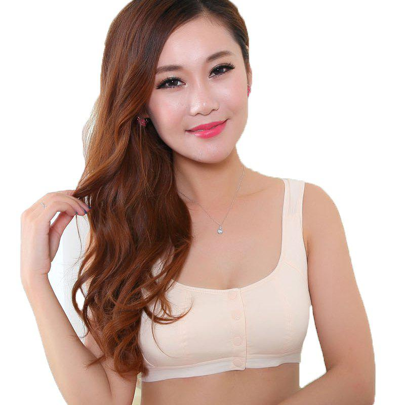 Trendy Women Cotton Nursing Sleep Bra for Maternity Breastfeeding