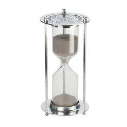 60 Minutes Metal Hourglass Glass Timer -