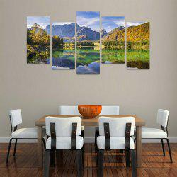 MailingArt FIV204  5 Panels Landscape Wall Art Painting Home Decor Canvas Print -