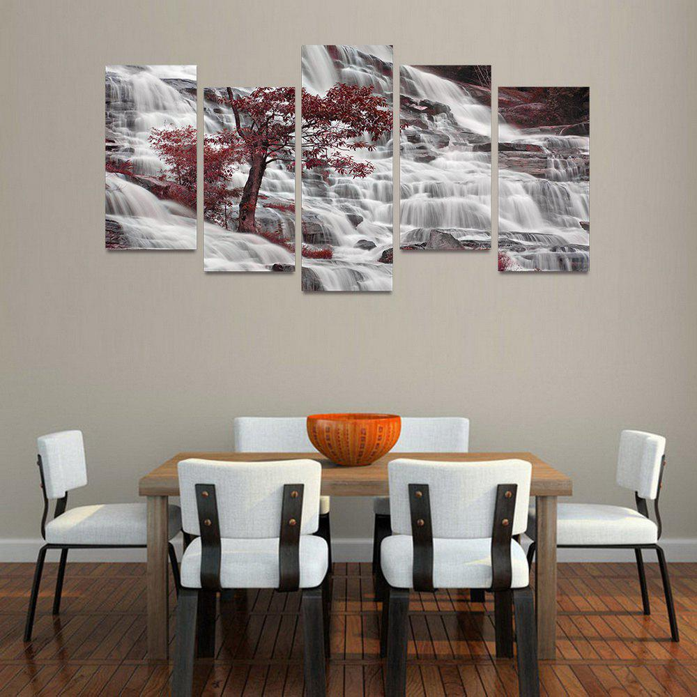 Latest MailingArt FIV219  5 Panels Landscape Wall Art Painting Home Decor Canvas Print