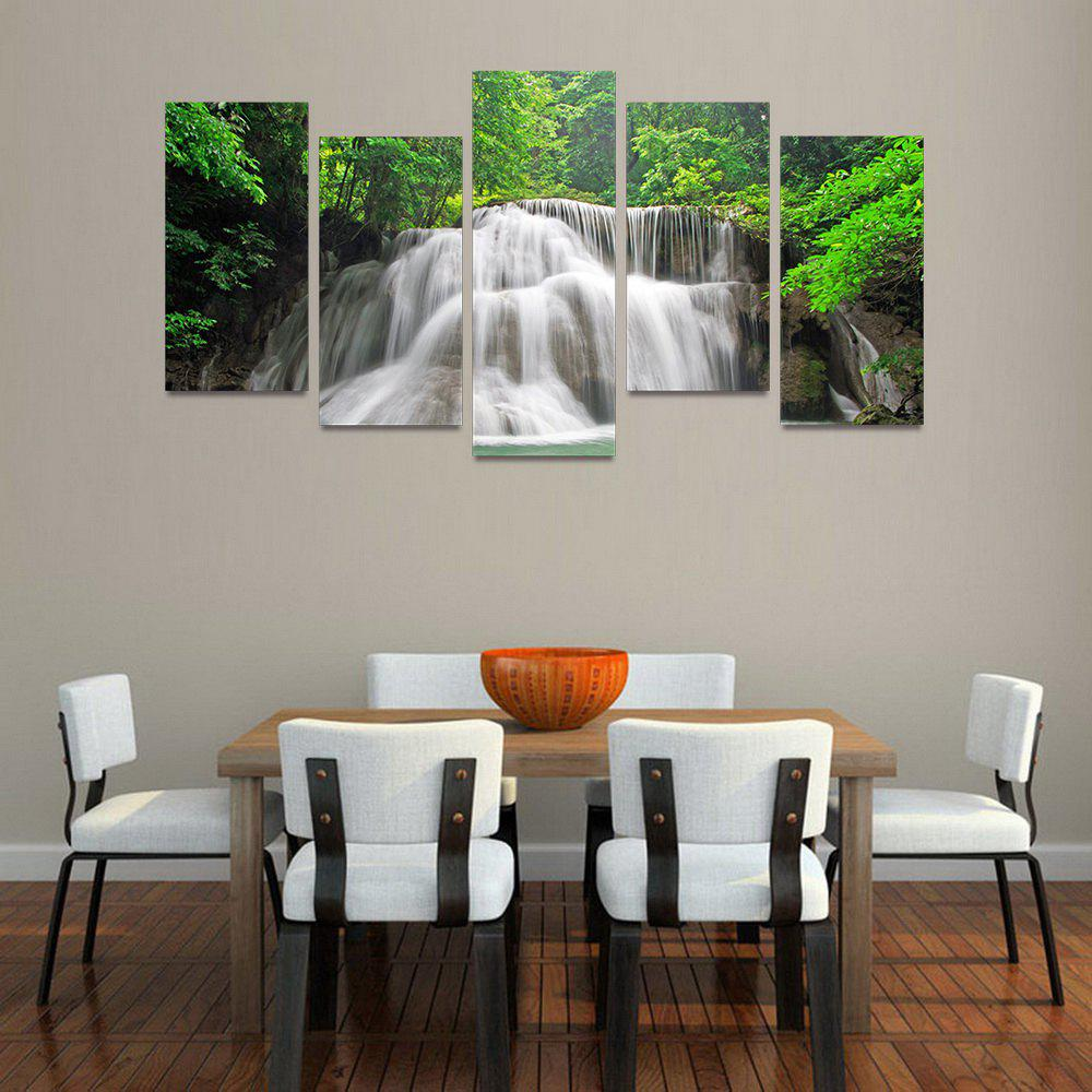 Online MailingArt FIV220  5 Panels Landscape Wall Art Painting Home Decor Canvas Print