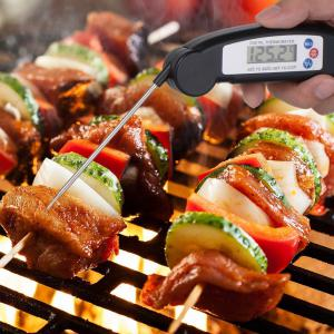 Digital Electronic Instant Read Super Fast Food Cooking Thermometer with Collapsible Internal Probe -