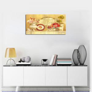 QiaoJiaHuaYuan No Frame Canvas Living Room Bedroom Dining Room Decoration Hanging Pictures of Potted Plants -