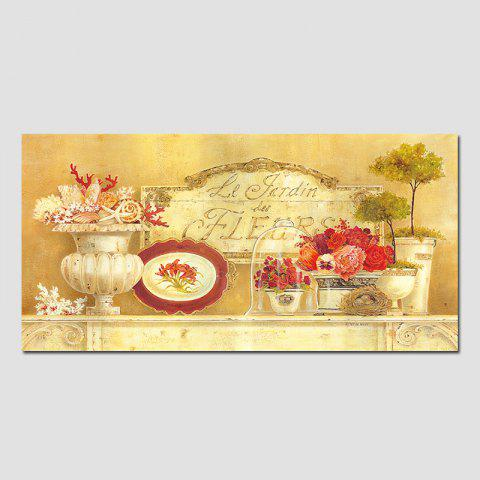 Sale QiaoJiaHuaYuan No Frame Canvas Living Room Bedroom Dining Room Decoration Hanging Pictures of Potted Plants