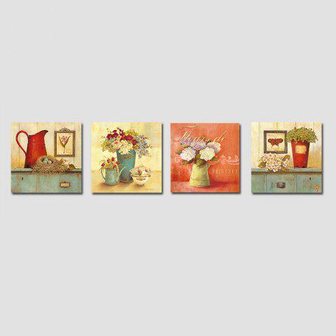 Buy QiaoJiaHuaYuan No Frame Canvas Living room Sofa Background Four Pieces of Garden Landscape Decoration Hanging Pictures