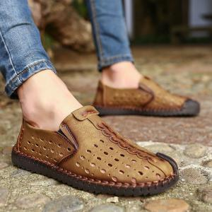 Men Shoes Fashion Business Leisure Casual Soft Cross Summer Loafers British Sneakers -