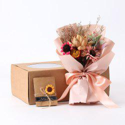 Vintage Bouquet Gift Box Gift Home Soft Dried Flowers -