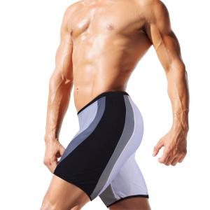 Fashion Men's Trunk Rapid Splice Square Solid Jammer Shorts Jammers Swim Suit -