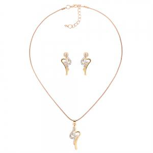 Fashion Personality Rhinestone Necklace Set -