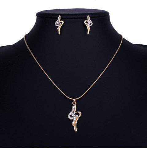 Shops Fashion Personality Rhinestone Necklace Set