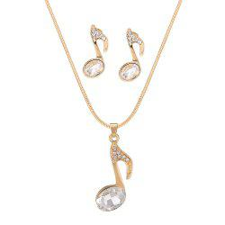 Youth Note Pendant Necklace Set -