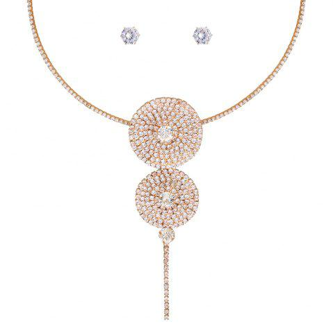 Ensemble de collier en strass