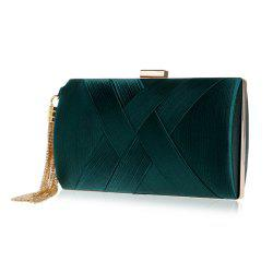 Ladies Tassel Dinner Bag Silk Dress Evening Clutch for Women -