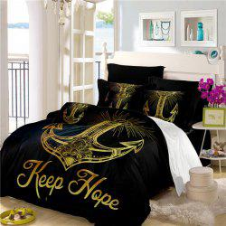 Sea Island Sacred Anchor 3D Series Bedding Three and Four Pieces Set AS27 -