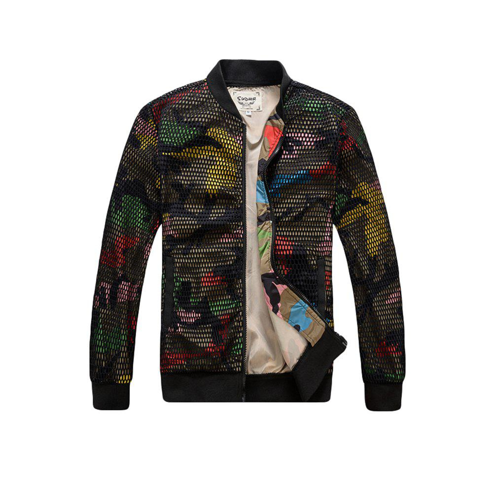 Hot Men's Bomber Patchwork  Long Sleeve Fashionable Jacket